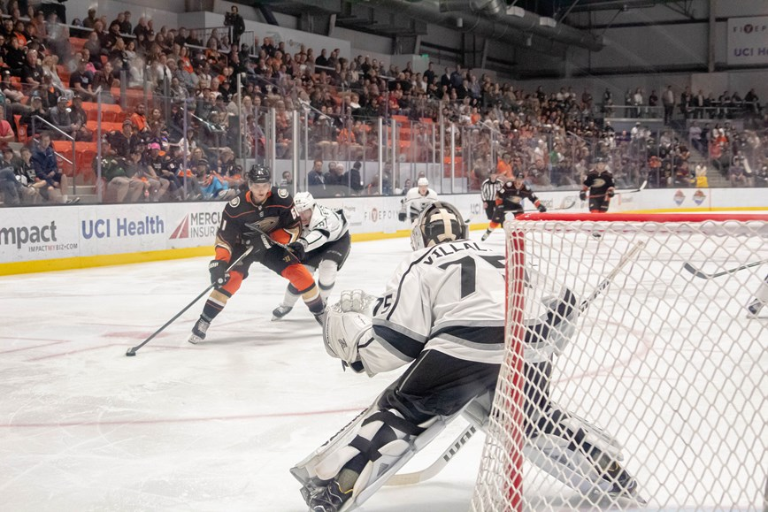 Anaheim Ducks vs. LA Kings during 2019 Rookie Showcase